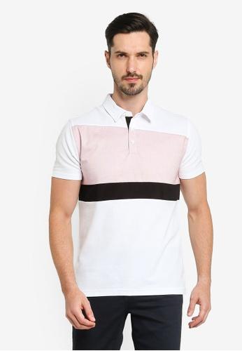 G2000 white Colour Block Polo Shirt F10AEAA5953502GS_1