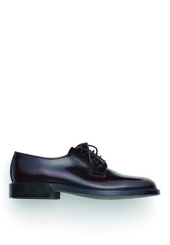 HARUTA 褐色 男裝經典綁帶皮鞋-711 E8DABSHC83301AGS_1