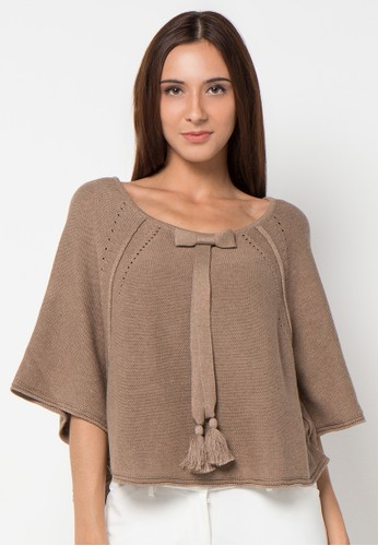 Noir Sur Blanc brown Ladies Poncho NO321AA74UEFID_1