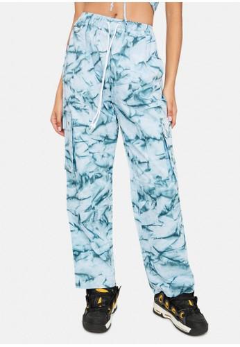 Cute Mistake blue Tie Dye Cargo Pants - Ice Pop 91837AABDD7246GS_1