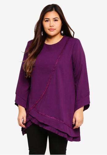 BYN purple Plus Size Muslimah Blouse C51D7AA37A7D12GS_1