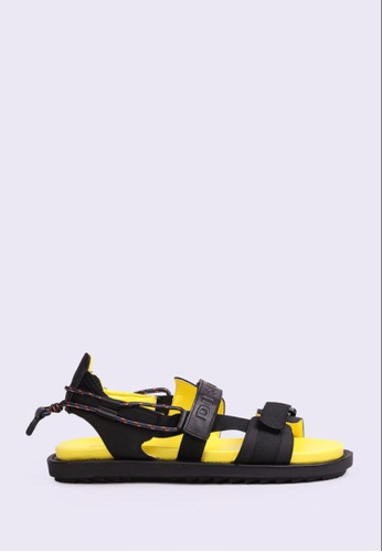 Diesel black and yellow SA-BERLIN SANDAL 6A60ESH53AC1B1GS_1