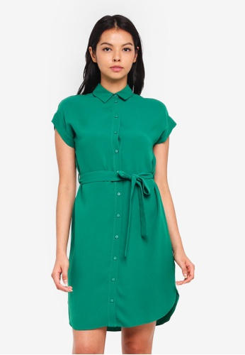 Dorothy Perkins green Emerald Green Shirtdress 31028AAA3317C9GS_1