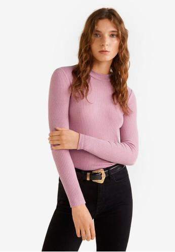 Mango pink Long Sleeve Sweater 9431DAA177C5ABGS_1