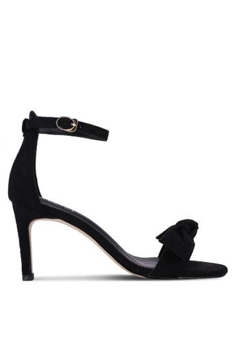 Velvet 黑色 蝴蝶結繞踝高跟鞋 1B619SHB8A0DE9GS_1