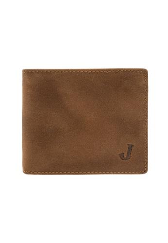 Jack Studio brown Jack Studio Embossed Bifold Leather RFID Coin Pocket Wallet 2F64BAC0F83663GS_1