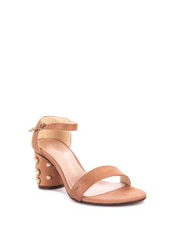 677f3413624 Shop Rock Rose Geometric Block Heel Sandals Online on ZALORA Philippines