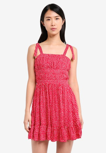 ZALORA red Fit And Flare Strappy Dress 2671EAA8541653GS_1