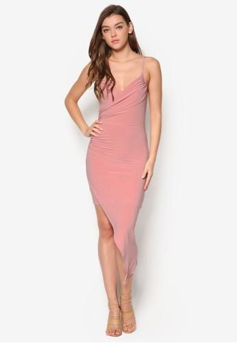 不對稱裙擺交叉肩帶裹飾連esprit高雄門市身裙, 服飾, 洋裝