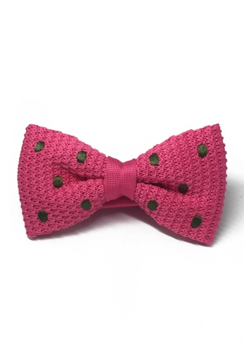 Splice Cufflinks pink Webbed Series Green Polka Dots Bright Pink Knitted Bow Tie SP744AC12UALSG_1