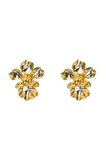 RISIS multi RISIS 18K Gold and Palladium Plated Vanda Miss Joaquim Orchid Pierced Earrings 672CEAC3E837D5GS_1