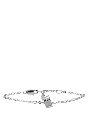 agnès b. silver Iconic Cube Bracelet C1258AC16CBF77GS_1