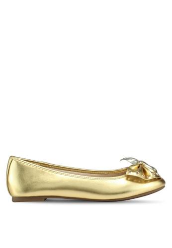 Circus by Sam Edelman gold Celeste Ballerina Flats 55A61SH92D3D3AGS_1
