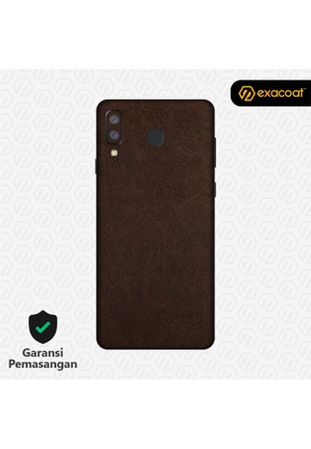 Exacoat Galaxy A8 Star 3M Skins Leather Series - Leather Brown 257D5ES88E223EGS_1