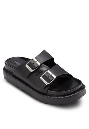 esprit門市地址雙扣環厚底拖鞋, 女鞋, 鞋