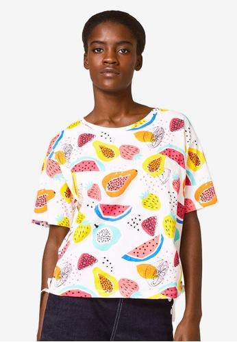 ESPRIT white Short Sleeve T-Shirt 9821EAA3A1839AGS_1