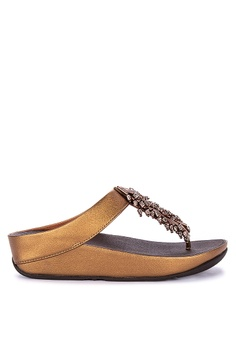 5d5f5c174 Fitflop brown Calypso Treasure Toe Post Sandals 06B4DSH42B487AGS 1