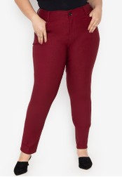 D Fashion Engineer red Wear-to-Work Plus Size Stretch Pants 6E8B3AA711682CGS_1