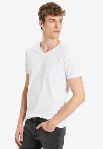 LC Waikiki white V-Neck Basic T-Shirt 6C986AA9408632GS_1