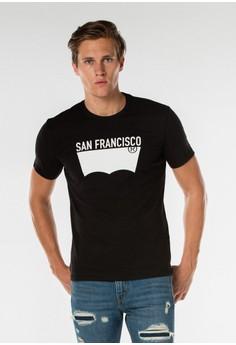 harga Levi's Destination Tee San Fransisco - Black Zalora.co.id