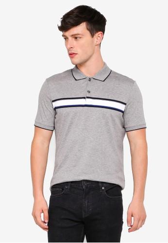 Banana Republic grey Lux Chest Stripe Polo Shirt 60585AADAA2C51GS_1