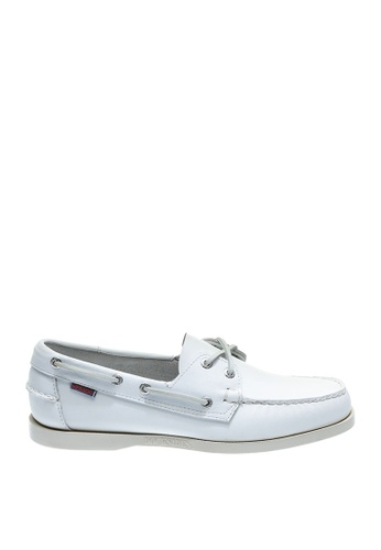 Sebago white Mens Docksides Boat Shoes 42CBDSH1A3654AGS_1