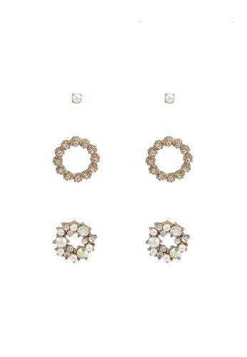 Call It Spring gold Edelini Pierced Earrings 5702FAC3D913EDGS_1