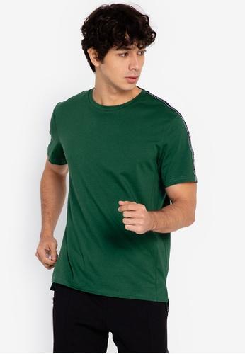 ZALORA ACTIVE green Side Trim T-Shirt CC84BAAA3A7D06GS_1