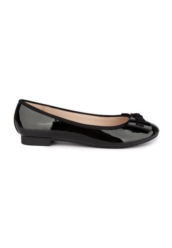 MAUD FRIZON black Patent Pu With Grosgrain Bow Ballerina A70A6SH6BB2DF9GS_1