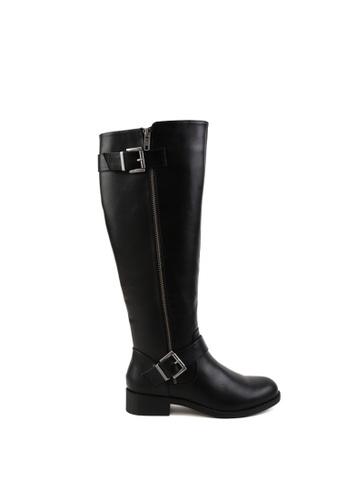London Rag black Side Zipper Calf Boots 9C2EESHEE4CE93GS_1
