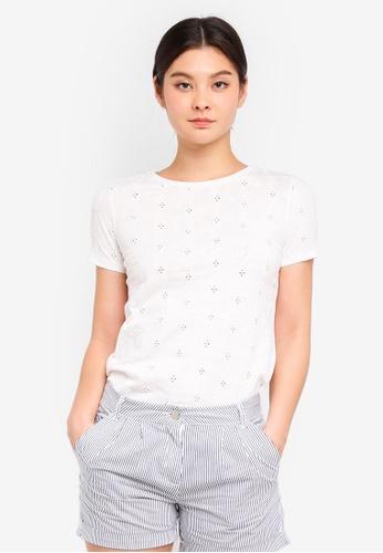 Dorothy Perkins white Broderie Tshirt 126DAAAE8A1079GS_1