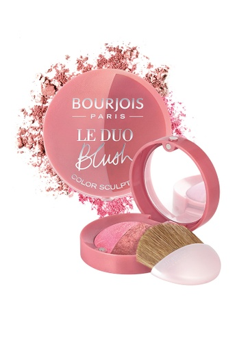 Bourjois pink Bourjois Duo Sculpting Blusher #02 Romeo et Peachette (Red) AA533BE1BE283BGS_1