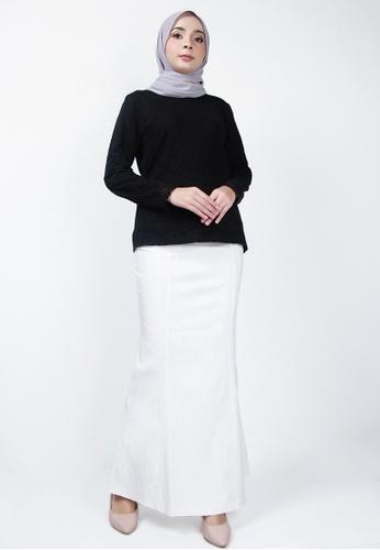 Ladies Jeans white Fashionable Floral Skirt B221BAA1DEEA4BGS_1