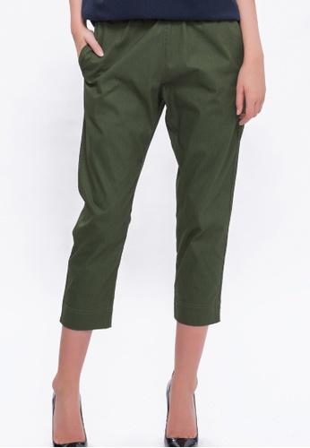 Alpha Style green Mattie Cropped Pants AL461AA0FVDKSG_1