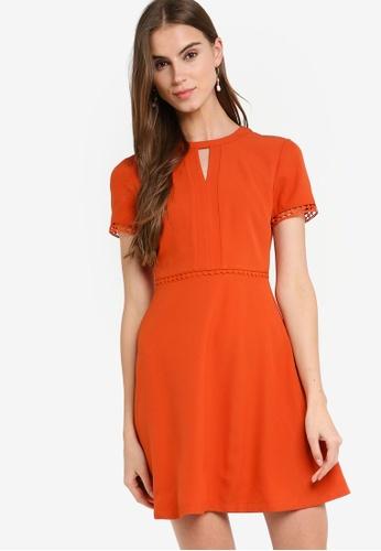 ZALORA 橘色 喇叭裙洋裝 79E80AA8445A7DGS_1