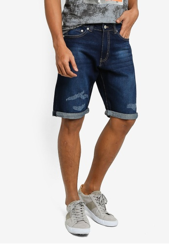 Electro Denim Lab blue Vintage Denim Shorts E9D2DAA9B47F3BGS_1