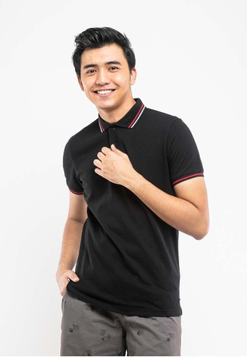 FOREST black Forest  Pique Slim Fit Polo Tee - 23442-01Black 4D0CFAAAD2244CGS_1