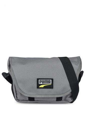 PUMA grey Deck Mini Messenger Bag 34B05ACF813E29GS_1