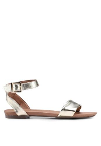 Dorothy Perkins gold Gold 'Fran' Sandals 53963SH7B752ECGS_1