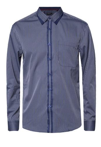 Pacolino blue Casual Smart Long Sleeve Shirt PA995AA55CPCMY_1