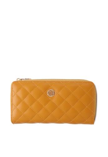 Wild Channel yellow Faux Leather Long Wallet BA17AACD4EBA58GS_1