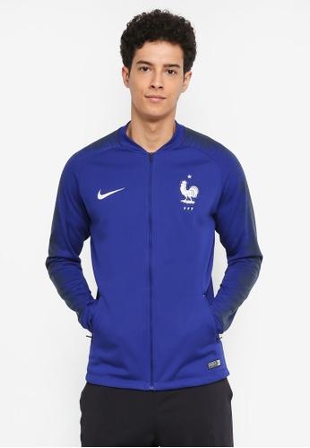 Nike black and white and blue Men's Nike FFF FB Jacket EA44EAAD3E587EGS_1