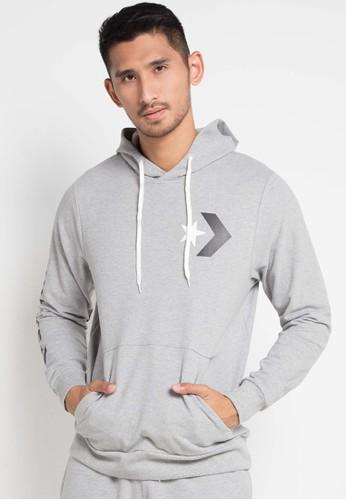 Converse grey Star Chevron Graphic Pullover Hoodie 29FA3AAFEB3AEDGS_1