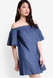ZALORA blue and navy Collection Off Shoulder Dress 03D07AA48FD3C4GS_1