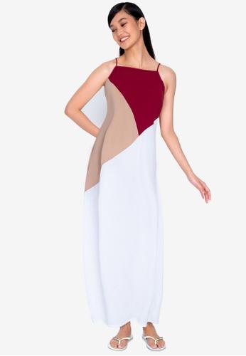 ZALORA BASICS multi Square Neck Cami Maxi Dress 59FE0AA317F206GS_1