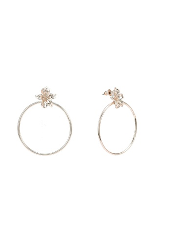 Forever New gold Gabbie Hoop And Flower Stud Earrings A8DFFACF8608E0GS_1