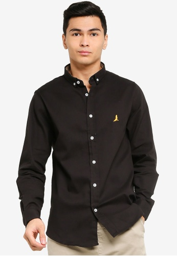 Brave Soul black Long Sleeved Shirt CB778AAA836382GS_1