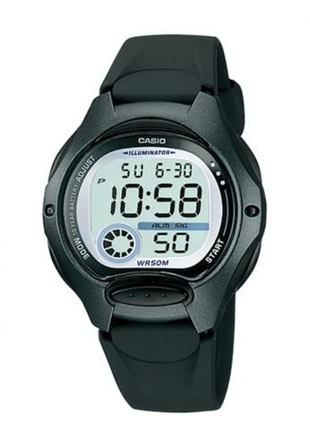 Casio black Casio Digital Jam Tangan Wanita Strap Karet Hitam LW-200-1B Original CA347AC82PSVID_1