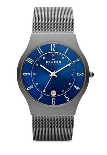 Skagen grey Skagen Grenen Steel Mesh and Titanium Case Watch 233XLTTN SK533AC13NGCMY_1