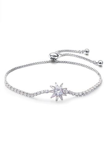 Trendyshop silver CZ  Adjustable Bracelets 5B3D4AC6D49516GS_1